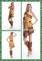 2015 caliente de la venta! Más barato de alta calidad al por mayor sexy chica de laindia en traje de halloween sexy vestido de fantasía de disfraces para adultos