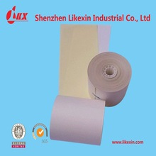 cheap 2-ply carbonless paper roll 76x70mm China manufacturer