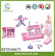 Jogo crianças brinquedos de plástico brinquedos aparelho para venda, Mini máquina de costura elétrica