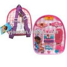 Dott Peluche/Doc mcstuffins kids party hair accessory set packed in PVC bag
