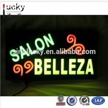 LED Open Sign Neon Salon Belleza LED Acrylic Letrero para Negocio LED Salon NEW