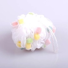 promotional large mesh plastic flower bath balls
