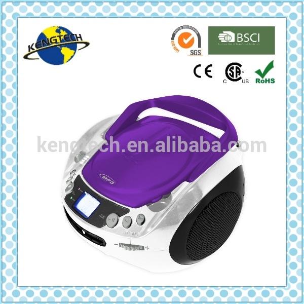 Cheapest super design purple portable bluetooth cd boombox - Porta cd design ...