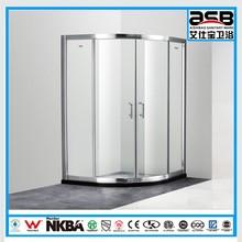 Foshan factory 8mm Temper Glass bathroom shower screen sliding door