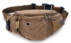 2015 new product for yong lady and men bags khaki canvas hot sale unisex waist bags