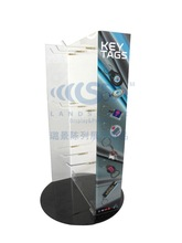 Expositor providing acrylic floor rack with decorative wall hook