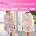 2015 personalizzati ragazze sexy pizzo crochet bianco indiano beachwear