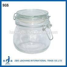 kitchen glass clip top lids storage jars clear glass jar for jam CK02