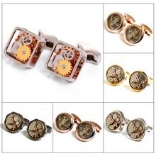 2015 Hot sale Mechanical Watch Cufflinks For men's Gift