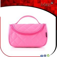 Max+ Waterproof Travel Ladies Wash Toiletry bag Ling Plaid Fashion Beautiful Cosmetic Bag With Mirror