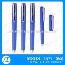 LT-B758 Metal clip gel pen/blue gel pen/Plastic gel pen