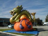Attactive! green inflatable dragon mascot customized inflatable dragon with purse