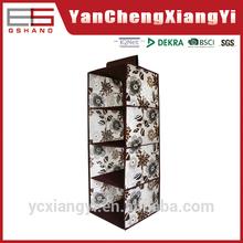 4 shelf 420D Cotton Like Magic separation rectangle flower top selling turkey Hanging Bag Organizer