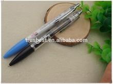 TB-0204 transparent promotional banner pen , metal clip pull-out banner pen