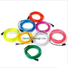 decorative light up garment EL wire,el wire cable,el wire neon rope light