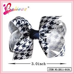 Fancy kids hair bow wholesale grosgrain ribbon colourful hairgrips