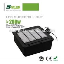 DLC UL approval led shoebox light outdoor led basketball court flood lights shoe box light