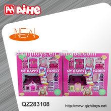 plastic furniture toys villa toys set kids plastic toy house