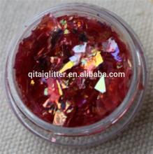 wholesale bulk rose red glitter powder/Irregular piece/bulk cosmetic glitter