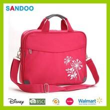 Red custom ladies laptop bag, laptop messenger bag