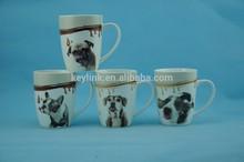 Lovely dog design 11oz Newly designed new bone china coffee mug