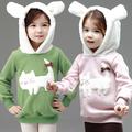 2014 otoño y el invierno ropa coreano nueva ropa de invierno para los niños del gato femenina suéter con capucha de cachemira de espesor wt-0922