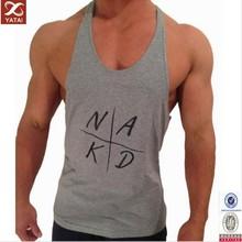 100 cotton mens gym bodybuilding custom stringer tank top