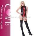 2015 haute qualité noir mode vinyle teddy lingerie femmes sexy lingerie hot