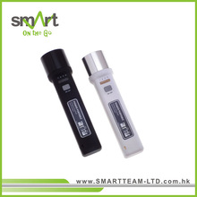 1W LED 2-in-1 Mobile Charger Flashlight, Rubberized surface finish (and power bank)