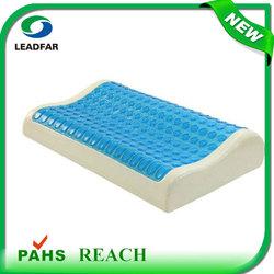 Best Selling Comfortable soft Elastic Environmental Ergonomic cool cooling PU Gel inflatable pillow book