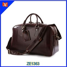 High quality Leather Travel Duffel Bag Men Leather Large Duffle Bags