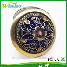 Winho cheap gifts for women broze handbag vintage compact folding mirror