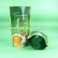 plastic herb tea packaging pocket