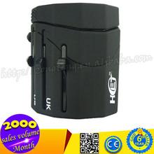 Hot Selling Universal World Travel Adapter, UK US EU AU Plug Adapter Converter