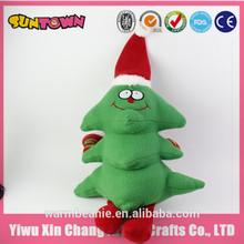 christmas tree,funny plush animated christmas tree toy
