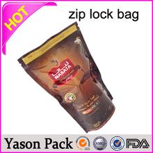 YASON see through ziplock cosmetic bag with explosion-proof edge plastic ziplock bags with colored zipper plastic colored ziploc