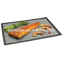 BBQ grill PTFE teflon resuable non-stick mesh mat sheet