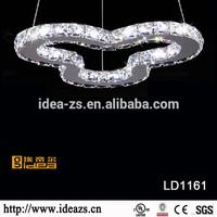 LD1161 crystal hanging curtain, luxury wall decor, 5 led ring lights pendant