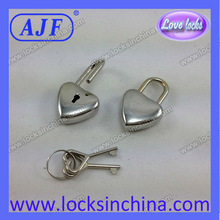 Metal mini key lock gold or silver tone for notebooks