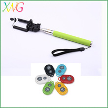 Cell phone Colorful extendable handheld bluetooth monopod selfie stick for iphone