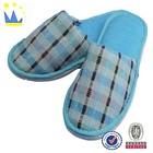 blue cheap price velvet indoor slipper for kids