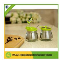 Kitchen helper 2 pcs/set storage seasoning pot,stainless steel kitchen utensils