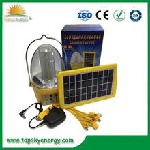 LED Dynamo Solar Panel Camping Lantern, Led Emergency Light solar garden led light