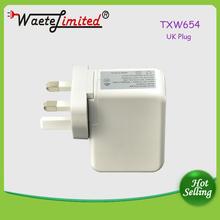 white AC power adapter 4 USB 5v 1000ma US UK AU EU plug