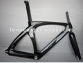 Telaio in carbonio pista, rivestimento chiaro telaio della bicicletta in carbonio, struttura della bicicletta pista