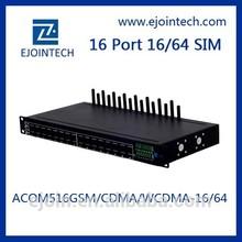 Ejoin Good price16 port 64 sim gsm gateway ip-pbx free unlimited voip calls