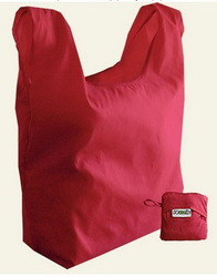 Low price recycled fold up polyester bag