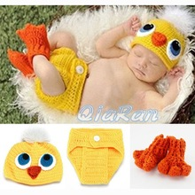 Crochet Knit Baby Hat and Diaper Cover & Shoes Costume Outfit Newborn Photography Props Infant Animal Beanies
