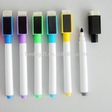 2015 hot sell whiteboard marker with eraser/white dry erase marker pen