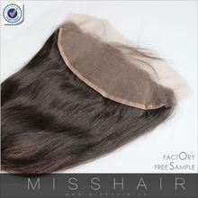 3*14 ear to ear lace closure virgin hair piece human hair topper wig